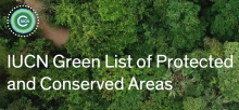 Overhead shot of forest depicting protected and conserved areas of IUCN Green List